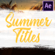 Colorful Summer Titles   After Effects