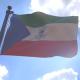 Equatorial Guinea Flag on a Flagpole V4