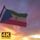 Equatorial Guinea Flag on a Flagpole V3 - 4K