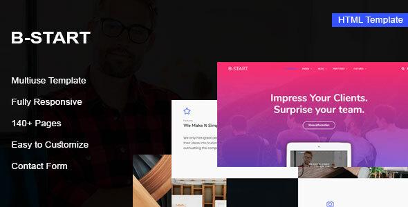 , B-Start – Startup HTML Template, Laravel & VueJs