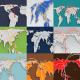 World Map Line Kit