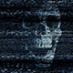 Scary Skull Appears In Tv Static
