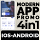 Modern APP Promo V-4 in 1-IOS and ANDROID