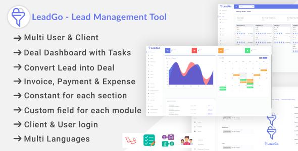 , LeadGo – Lead Management Tool, Laravel & VueJs