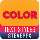 Color Typography | 3D Text