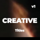 Creative and Modern Titles