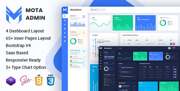 , MotaAdmin – Admin & Dashboard Template, Laravel & VueJs