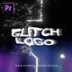 Glitch Bokeh Logo Intro