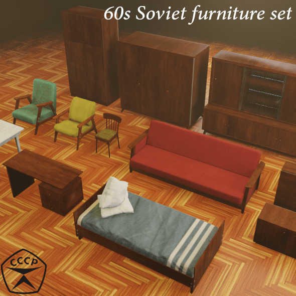 60s Soviet furniture set