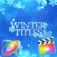 Winter Titles - Apple Motion