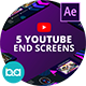 YouTube End Screens Vol.4 | After Effects