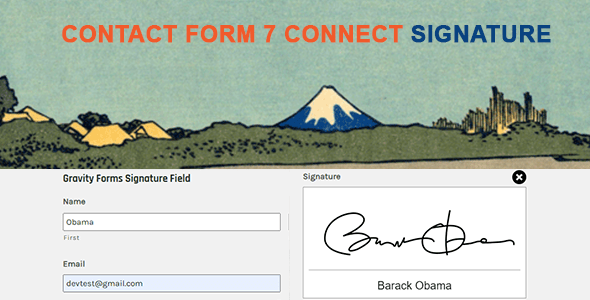 contact form 7 signature inline preview
