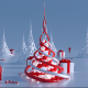 Abstract Christmas Trees (2 in 1)