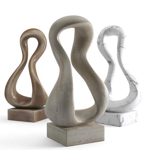 Modern Decorative Abstract Art Sculpture 04