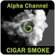 Colliding and Flow Cigar Smoke with Alpha Chanel