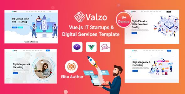 , Valzo – Vuejs IT Startup Template, Laravel & VueJs