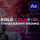 Bold Colorful Typography Promo