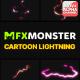 Cartoon Lightning Elements | Motion Graphics