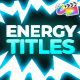 Energy Titles Pack | FCPX