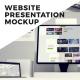 Website Presentation Mockup