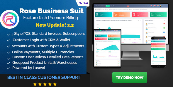 , Rose Business Suite – Accounting, CRM and POS Software, Laravel & VueJs
