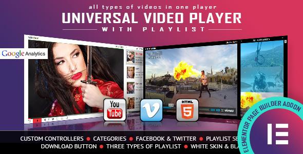 UniversalVideoPlayer Elementor Widget Addon Canyon