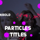 Modern Colored Particles Titles