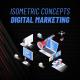 Digital Marketing - Isometric Concept