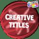 Creative Cartoon Titles   FCPX