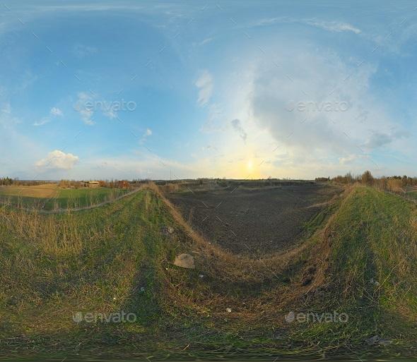 Pure Sun rise 16K HDRi 001 -  full spherical panoramic HDRI