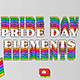 Pride Day Elements