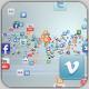 Social Media Icons Logo Formation