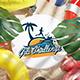 Beach Tropical Logo Reveal 3D