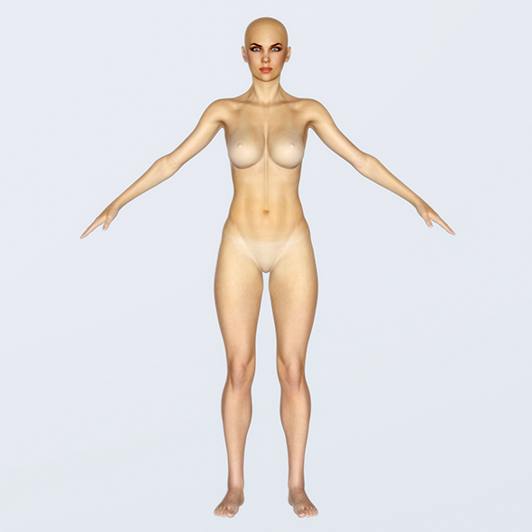 Realistic Female Base - Low Poly PBR