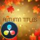 Autumn Titles - DaVinci Resolve
