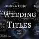 Wedding/Romantic Titles