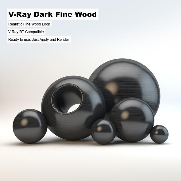 V-Ray Dark Fine Wood Material