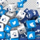 Social Media Icons Transition - Facebook, Twitter, Like