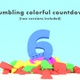 Crumbling Colorful Ten Second Countdown