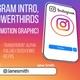 Instagram Intro and Lowerthird (FullHD)