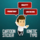 Corporate Sticker Cartoon with Kinetic Typo