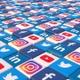 Social Media Blocks Background - Version 5