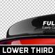 Stylish 3D Lower Third