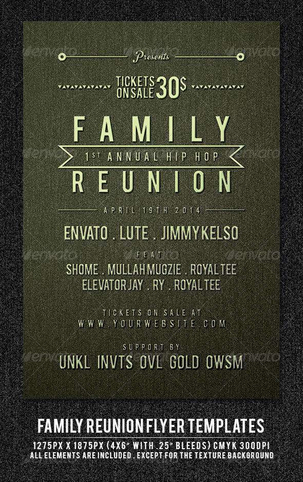 family reunion graphics designs