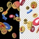 Flying Facebook Emoji V2 4K