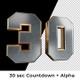 3D Sport Metal Spinning Numbers 30sec Countdown