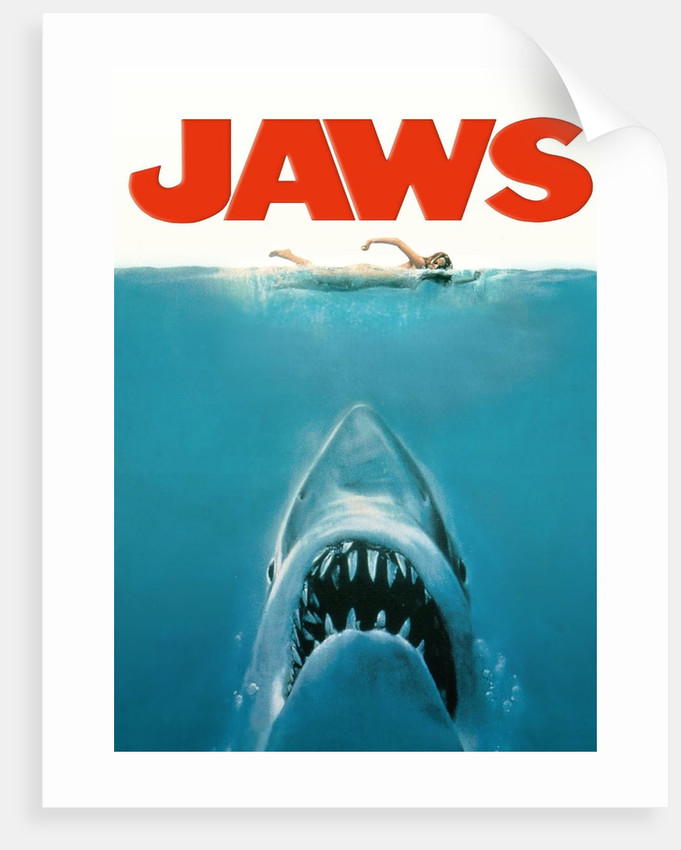 jaws movie poster original artwork