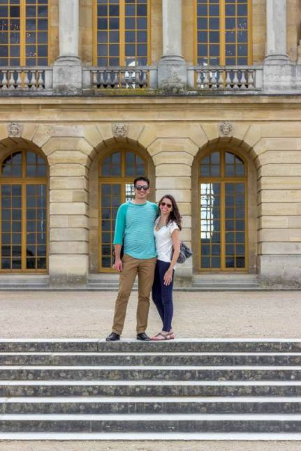 Outside Palace of Versailles