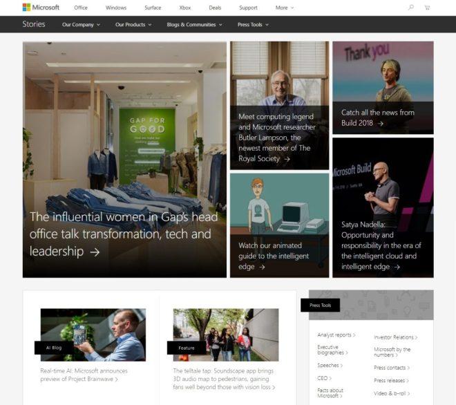 Microsoft newsroom