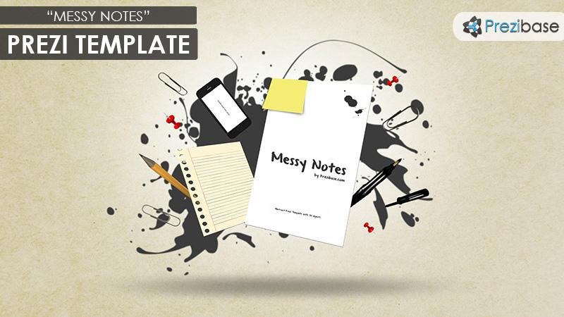 Messy Notes Prezi Template Prezibase